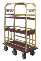 Condominium Multi-Shelf Bellman Carts