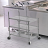 Collapsible Utility Cart With 3 Shelves 4 thumbnail
