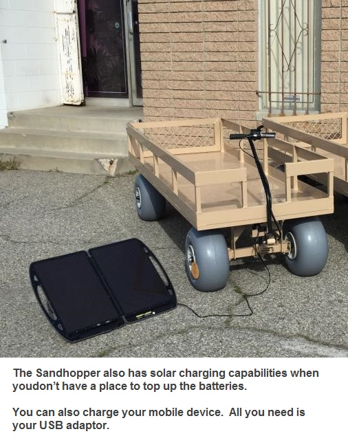 Sandhopper Mini Motorized Beach Wagon 6 thumbnail