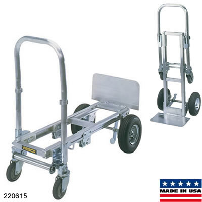 its unique design means that you can fold in its nose turning it into a space saving hand truck it is both lightweight and strong this 28lb convertible - Convertible Hand Truck