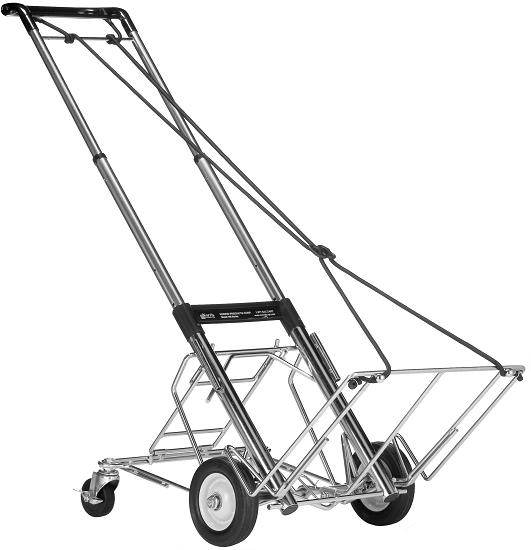 Telescoping Hand Cart 400 Lb Capacity With Rear Wheels