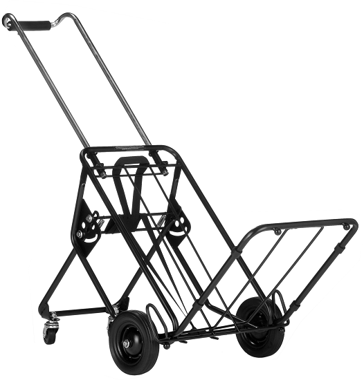 Folding Luggage Cart With Rear Kickout Wheels