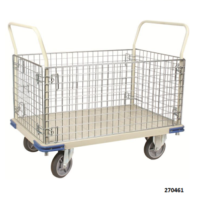 Platform Truck With Wire Cage 2