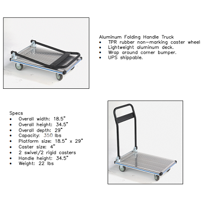 aluminum folding handle platform truck 4