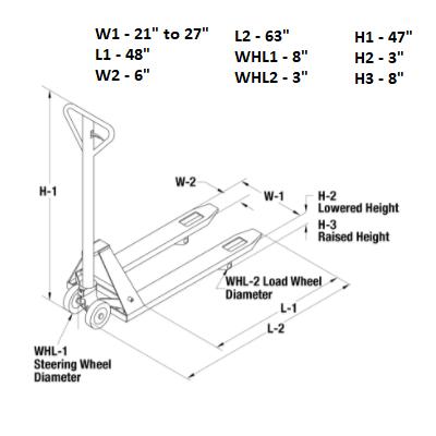 Adjustable Width Pallet Truck 3