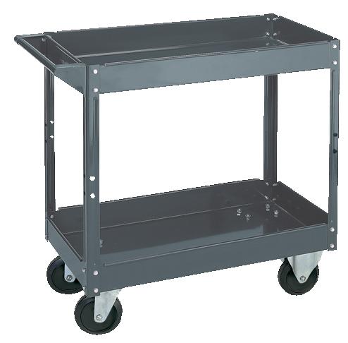 Steel Service Cart 2 Shelves