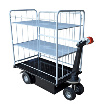 3 Shelf Electric Power Drive Platform Cart