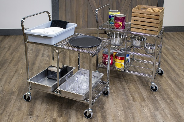 Collapsible Utility Cart With 3 Shelves 3