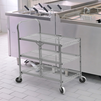 Collapsible Utility Cart With 3 Shelves 4