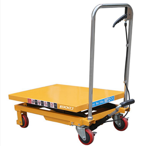 330 lbs Capacity Manual Steel Single Scissor Lift Table