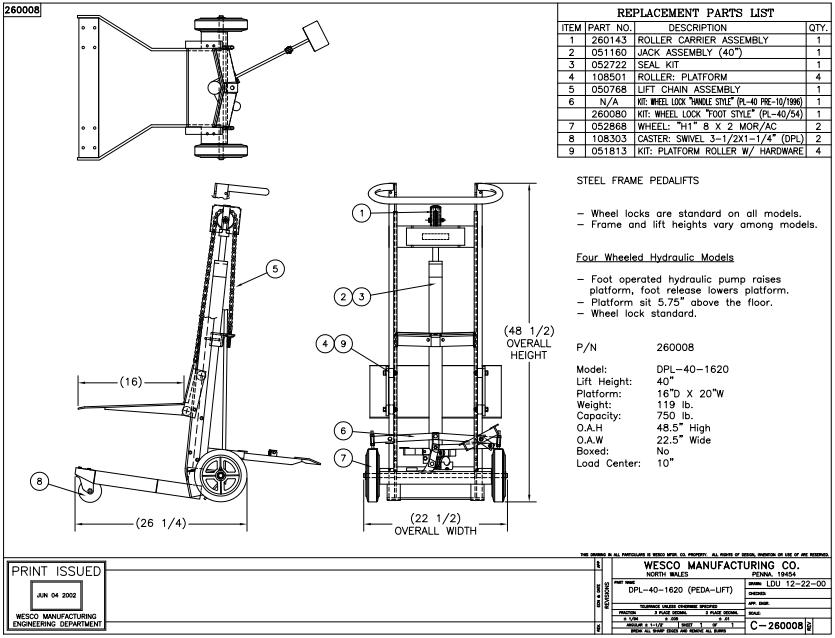 Hydraulic Lift 4 Wheels 1