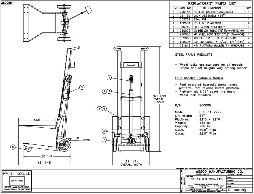 Hydraulic Lift 4 Wheels 3