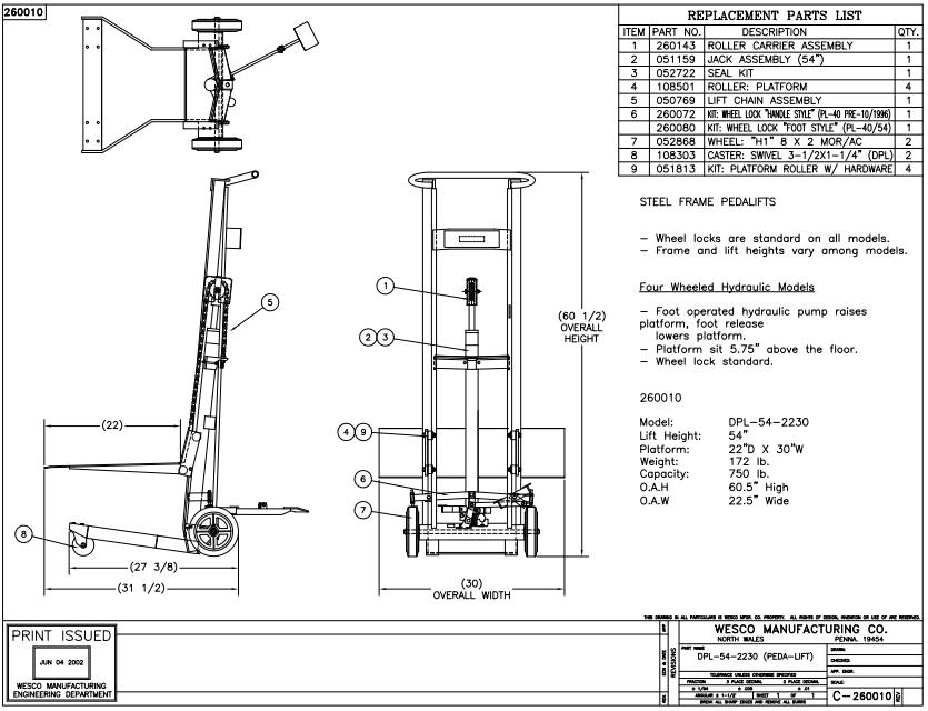 Hydraulic Lift 4 Wheels 5