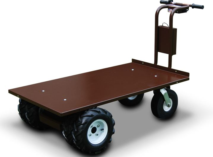 9 cubic ft electric dump tray cart for gardening and farms for Motorized hand truck dolly