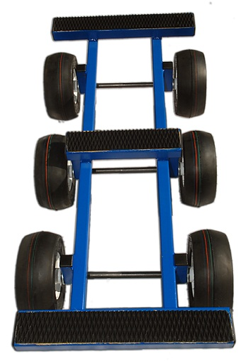 6 Wheel Steel All Terrain Dolly Perfect For Piano Hvac