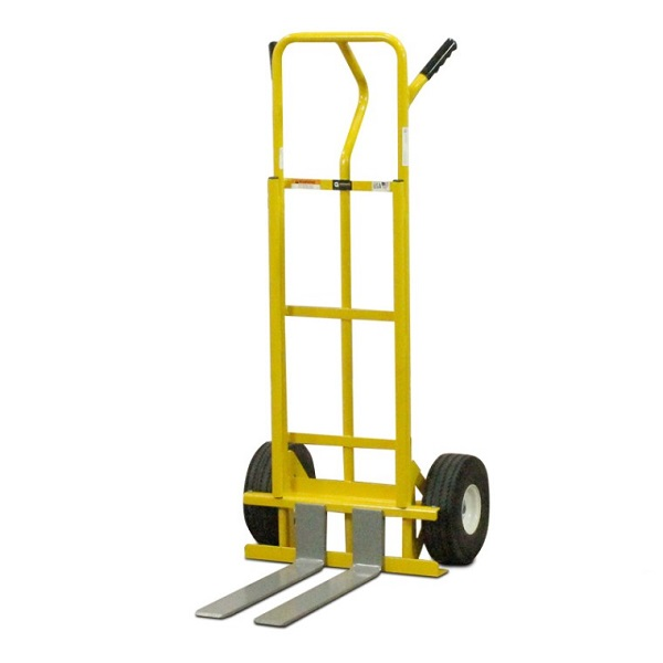 fork hand truck for mini skids with flat free tires 600lb capacity. Black Bedroom Furniture Sets. Home Design Ideas
