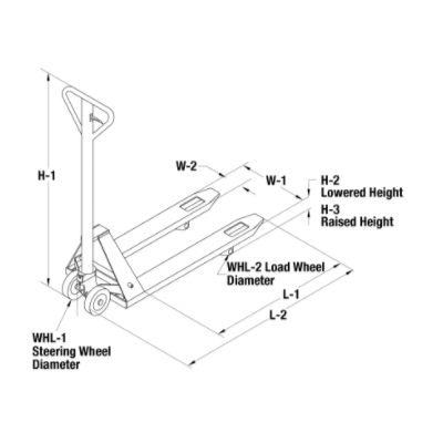 Manual Pallet Truck Lift Telescoping 3