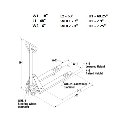 Narrow Profile Pallet Truck