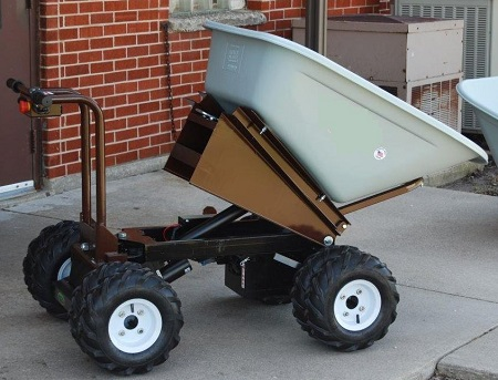 Big Dump Trucks >> 4 Wheel Power Drive and Dump Wheel Barrow - 8 Cubic Foot