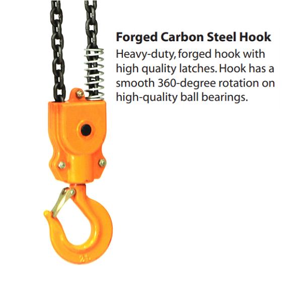 Electric Chain Hoist With Hook: 500 Lbs Single Phase Electric Chain Hoist With Hook
