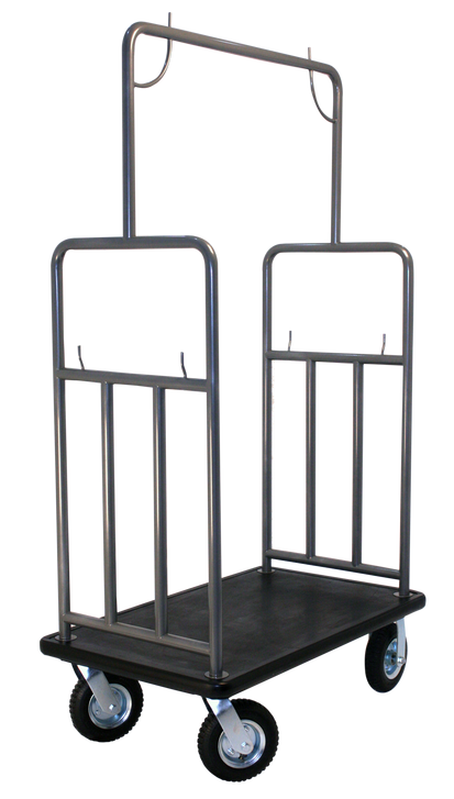 All Steel Hotel Luggage Cart Ideal For Winter Snow Rain