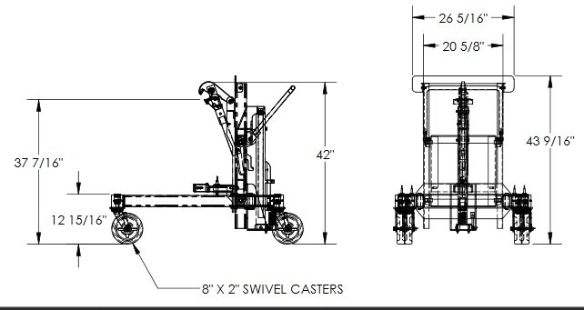 Drum Transporter and Lift - Foot Pump 7