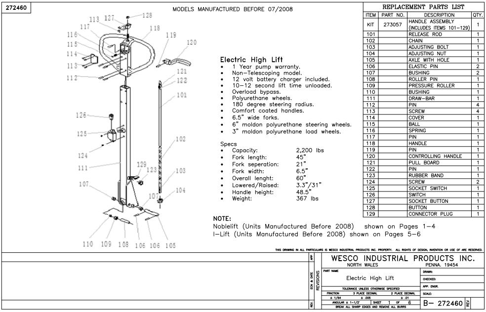 Electric High Lift Power Truck Non Telescoping 5