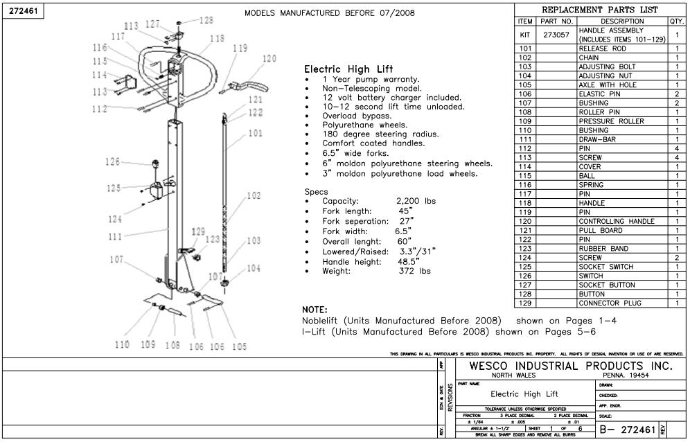 Electric High Lift Power Truck Non Telescoping 6