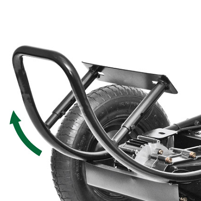 Handtrucks2GO  Carts  Power Wheel Barrows Light Duty Electric Platform Cart 200lb Capacity 3