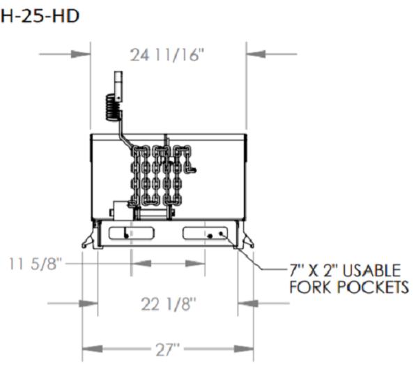 H 25 HD blueprint 1 e87635846f 6000 lb capacity 90° adjustable self dumping steel hopper