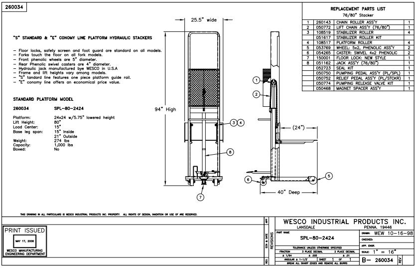 Hydraulic Stacker 4