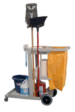 Heavy Duty Janitor Cart Free Shipping Handtrucks2go Com