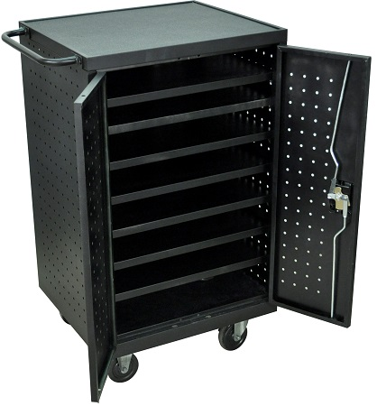 12 Laptop / Chromebook Charging Cart Station  sc 1 st  Handtrucks2GO & 12 Laptops Computer Charging Storage Cart Station with Electric Assembly