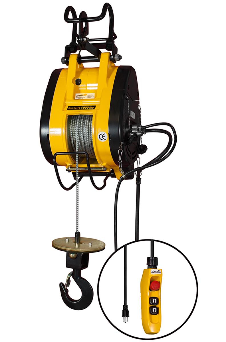 Electric Cable Hoist : Lb capacity electric hoist cable ft lift