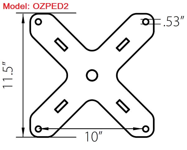 OZ 1000lb Steel Davit Crane