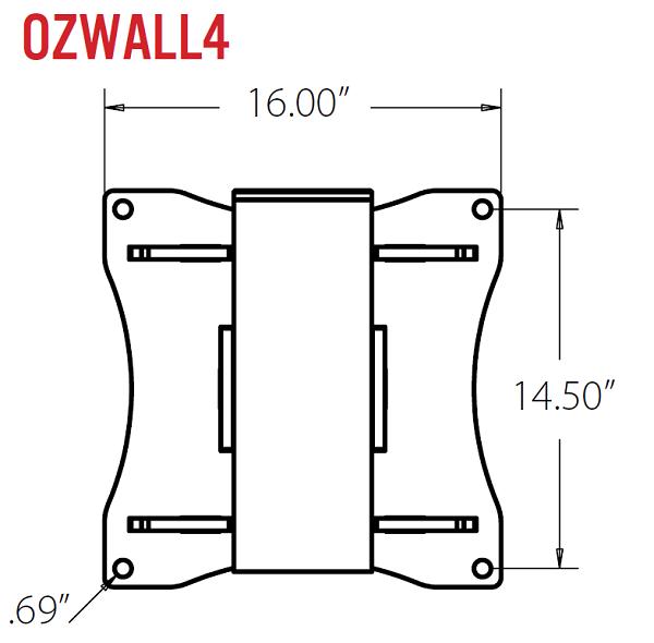 OZ 2500lb Steel Davit Crane