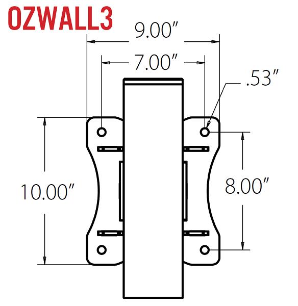 OZ 500lb Steel Davit Crane