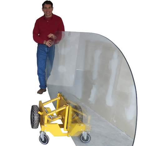 Self Adjusting Panel Cart For Granite Counter Tops The