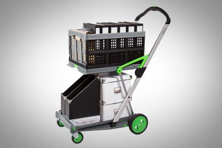 clax 2 shelf folding compact platform hand truck
