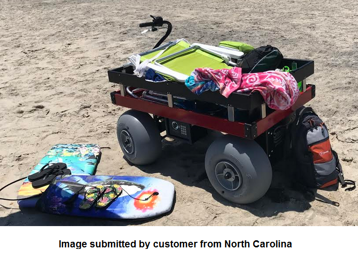 "Sandhopper Electric Beach Wagon 24"" x 48"""