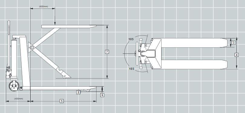 2200lb Manual Lift Scissor Lift Pallet Jack thumbnail