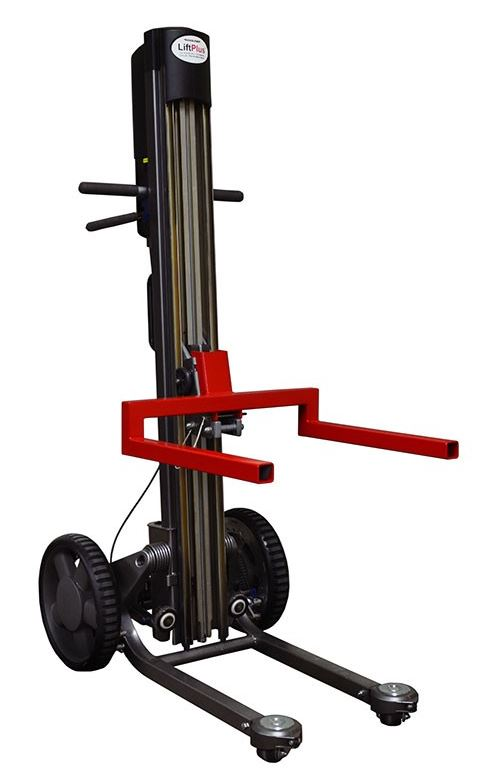 Magliner liftplus electric stacker hand truck 48 for Motorized hand truck dolly