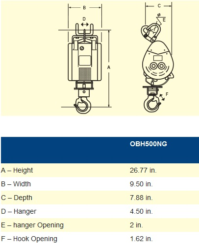 oz electrical builders hoist 500lb capacity thumbnail