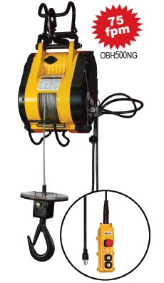 OZ Electric Builders hoist 500lb capacity