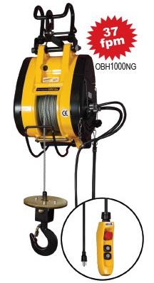 1000 lb capacity electric hoist cable 90 ft lift rh handtrucks2go com