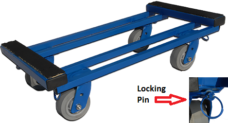 Steel Dolly With 4 Swivel Wheels And Locking Option