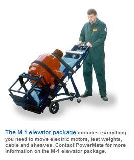 motorized lift truck for elevator equipment
