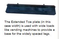 extented wide nose motorized hand truck