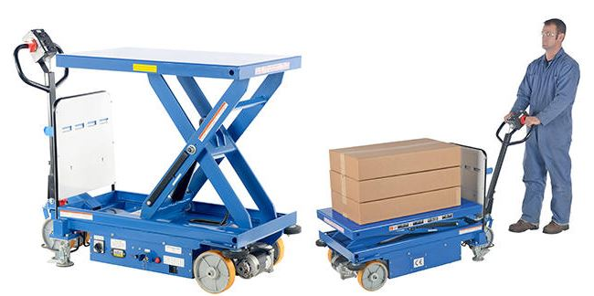 Electric Powered Drive And Powered Lift Hydraulic Scissor