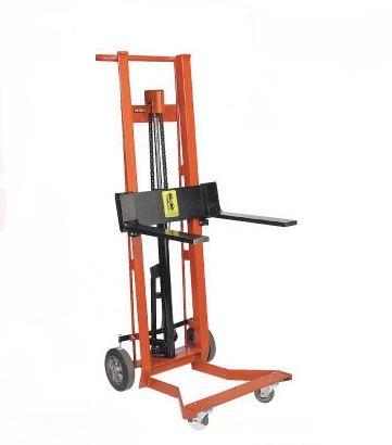 Four Wheel Hydraulic Stacker Lift Truck-Fork Style
